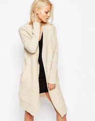 Religion Off Beat Ribbed Cardigan Oatmeal Beige