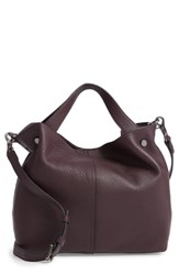 Vince Camuto Small Niki Leather Tote Purple Vamp