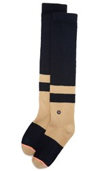 Stance Cross Hatch Boot Socks Navy