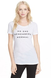 Milly 'No One Remembers Normal' Graphic Tee Heather Grey
