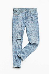 Urban Outfitters Vintage Bdg X Brian Lynch Hand Doodled Red Camo Skinny Jean Vintage Denim Light