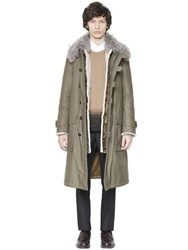 Valentino Fur And Cotton Parka Coat