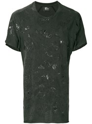 Lost And Found Ria Dunn Stain Effect T Shirt Green
