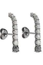 Melissa Kaye Aria 18 Karat Blackened White Gold Diamond Earrings One Size