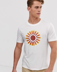 Hymn Sunshine Embroidered T Shirt White