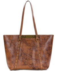 Patricia Nash Signature Map Poppy Satchel Riot Rust