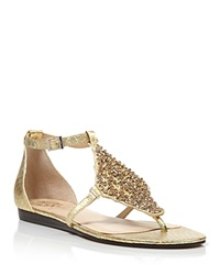 Vince Camuto Flat Thong Sandals Valeen Jeweled Bloomingdale's Exclusive Cleopatra Gold