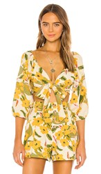 L Space Penelope Top In Yellow. Ibiza Floral