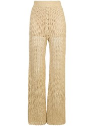 Alice Mccall Beautiful And Dangerous Trousers Metallic