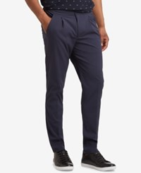 Kenneth Cole New York Slim Fit Seersucker Pants Indigo