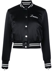 Amiri Lovers Baseball Jacket Women Silk M Black