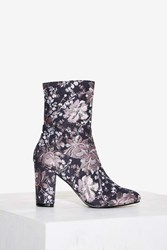 Nasty Gal Tibby Tapestry Boot Floral