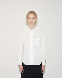 Comme Des Garcons Fur Collar Shirt Off White