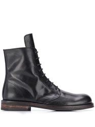 Ann Demeulemeester Lace Up Ankle Boots Black