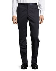 Hardy Amies Straight Leg Cotton Pants Navy