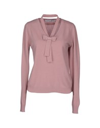 Frankie Morello Long Sleeve Sweaters Pastel Pink
