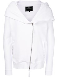 Unconditional Zipped Hoodie White
