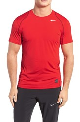 Nike Men's 'Pro Cool Compression' Fitted Dri Fit T Shirt University Red White