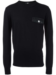 Versus Chest Pocket Jumper Black