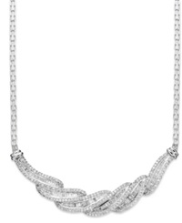 Wrapped In Love Diamond Twist Necklace In Sterling Silver 1 Ct. T.W.