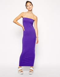 American Apparel Jersey Tube Maxi Dress Purple