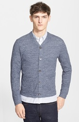 Todd Snyder Knit Cotton Cardigan Blue Heather