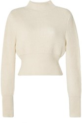 Apiece Apart Dios Ribbed Cotton And Cashmere Blend Sweater Cream