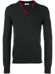 Bikkembergs V Neck Jumper Grey