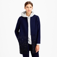 J.Crew Collection Embellished Cocoon Coat