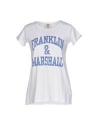 Franklin And Marshall T Shirts White