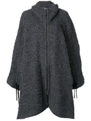 Lost And Found Ria Dunn Cardigan Style Oversized Coat Cotton Polyamide Wool Xs Grey