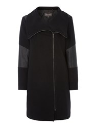 Pied A Terre Funnel Coat Black