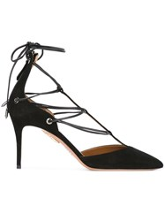 Aquazzura Mid Heel Sandals Black