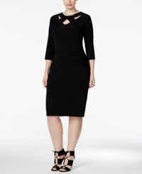 Inc International Concepts Plus Size Cutout Sheath Dress Only At Macy's Deep Black