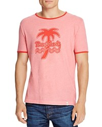 Marc Jacobs Palm Tree Graphic Ringer Tee Pink Melange