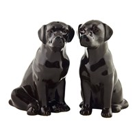 Quail Ceramics Chocolate Labrador Salt And Pepper Shakers
