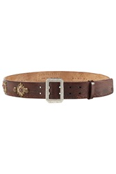 Dsquared2 Embellished Leather Belt Brown