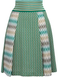 Missoni Pleated Skirt Green