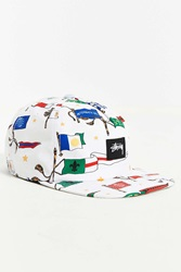 Stussy Flags Su 15 Snapback Hat White