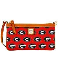 Dooney And Bourke Georgia Bulldogs Ncaa Large Wristlet Red