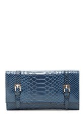 Urban Expressions Michelle Embossed Faux Leather Wallet Blue