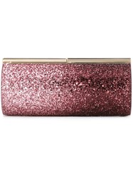 Jimmy Choo 'Trinket' Clutch Pink And Purple