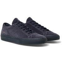 Common Projects Original Achilles Suede Sneakers Navy