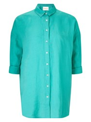 East Oversized Linen Shirt Green