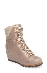 Sorel 'Conquest' Waterproof Wedge Boot Beach Fawn