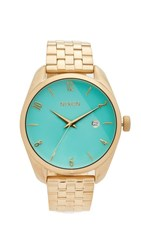 Nixon The Bullet Living Colour Watch Gold Turquoise