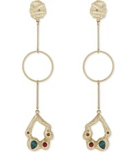 Maje Nadire Swarovski Drop Earrings Or