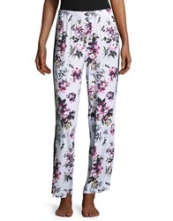 Lord And Taylor Side Striped Lounge Pants Painted Floral