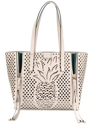 Chloe 'Cabas' Tote With Pineapple Detailing Nude Neutrals