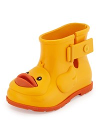 Melissa Shoes Sugar Rain Rubber Ducky Rainboot Yellow
